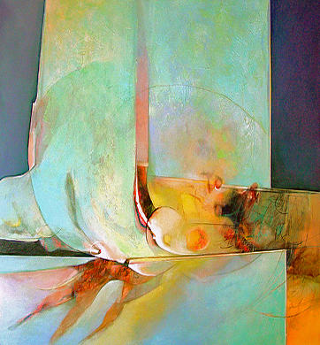 Abstract Painting - Unfolding by Dale  Witherow