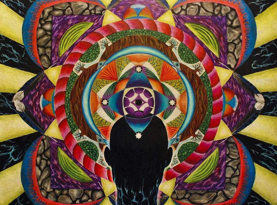 Spirit Drawing - Unfolding Spirit by Matthew Fredricey