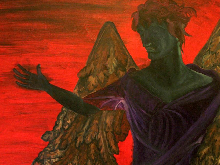 Angel Painting - Unforgiveness by Kaidan Whitehouse