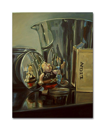 Still Life Painting - Unhigenix In Reflection by Paul Birchall