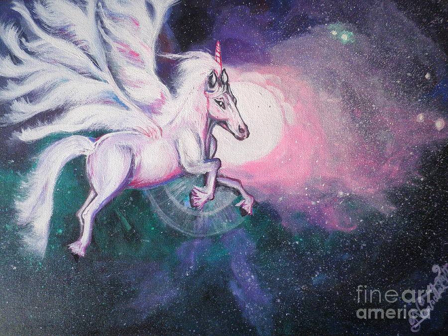 Unicorn And The Universe Painting