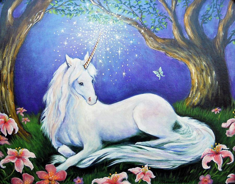 Unicorn Art Incantation Painting