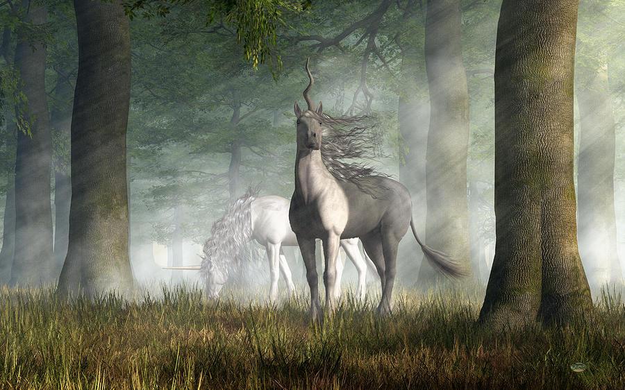 Unicorn Digital Art - Unicorn by Daniel Eskridge