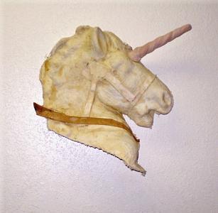 Fantasy Sculpture - Unicorn-hand Built by Christine Ward