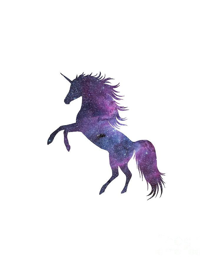 Unicorn In Space Transparent Background Digital Art By Anna W