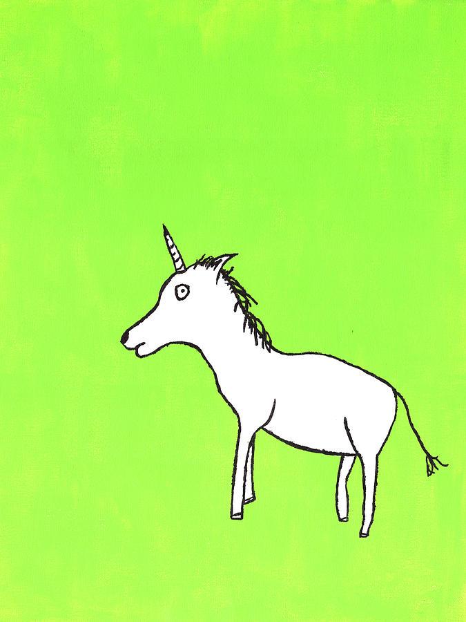 Unicorn Painting - Unicorn by Matthew Daigle