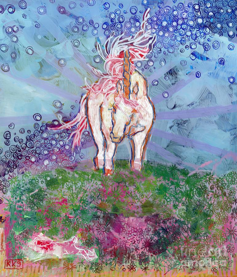 Unicorn Painting - Unicorn Tears by Kimberly Santini