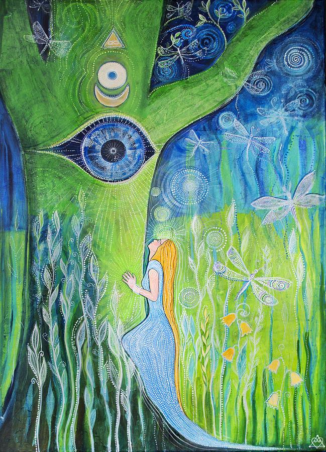 Yoga Painting - Union by Agnieszka Szalabska