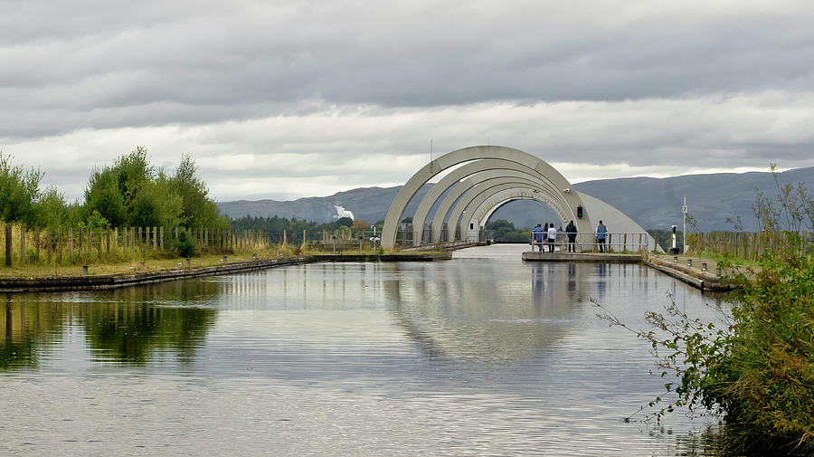 Union Canal At The Falkirk Wheel Photograph