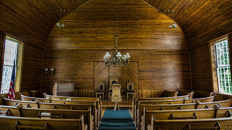 Union Christian Church Photograph - Union Christian Church Sanctuary by Stephen Stookey