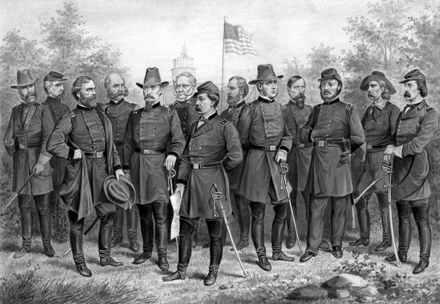 Civil War Painting - Union Generals Of The Civil War  by War Is Hell Store