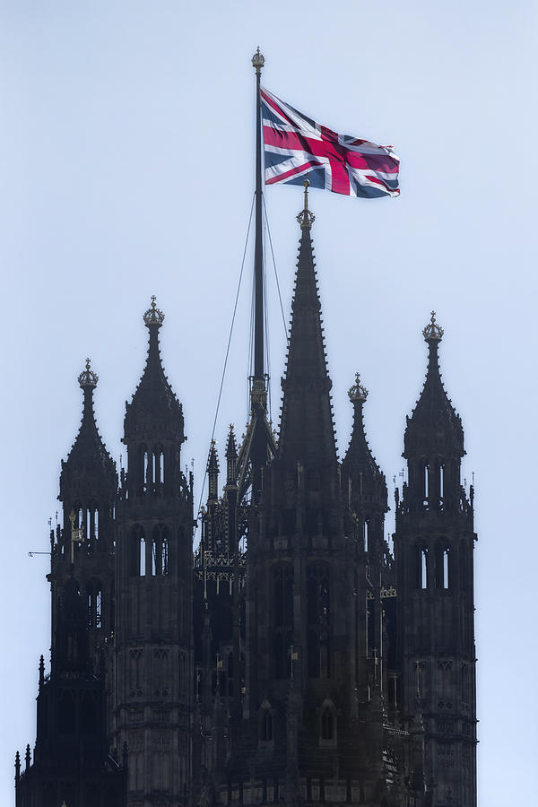 Westminster Photograph - Union Jack by Joana Kruse