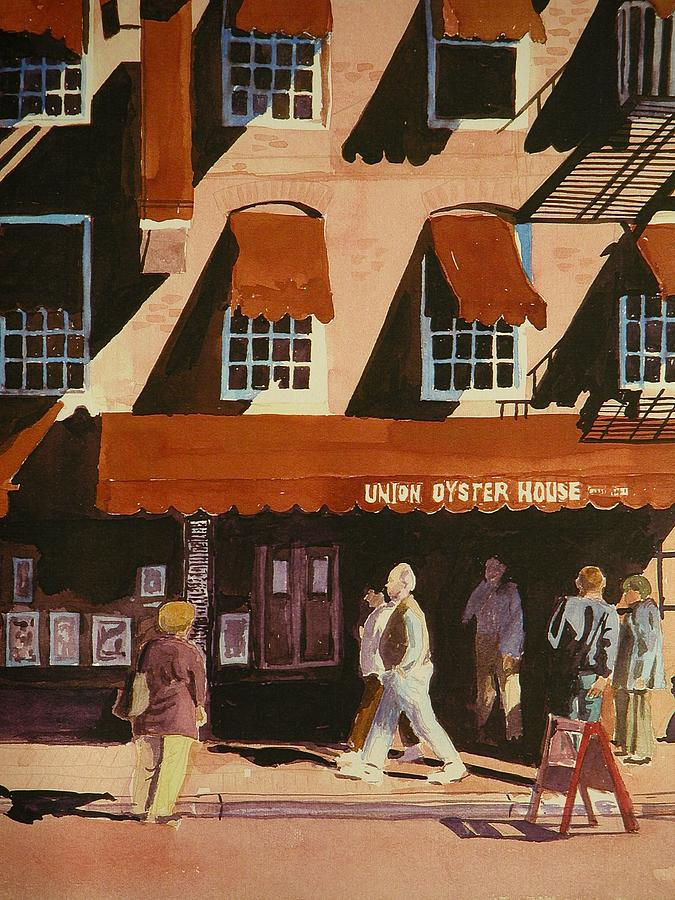 Union Oyster House Painting - Union Oyster House Of Boston by Walt Maes
