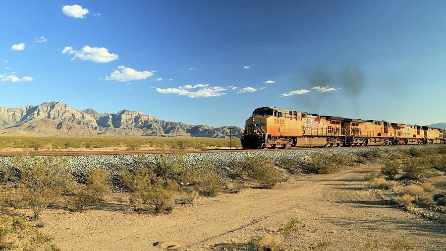 Landscape Photograph - Union Pacific through Mojave by M C Hood