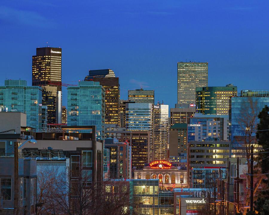 Union Station During Blue Hour - Denver, Colorado Photograph