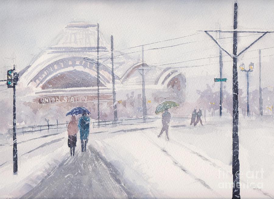 Union Station Painting - Union Station, Tacoma by Yohana Knobloch
