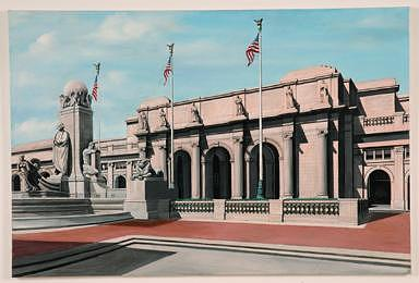 Union Station Washington Dc Painting by Joseph Greenawalt