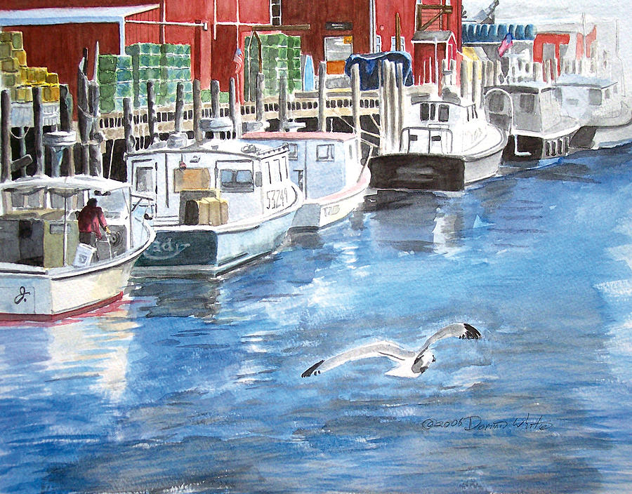Seagull Painting - Union Wharf by Dominic White