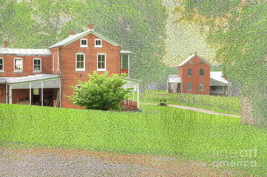 Hdr Digital Art - Uniontown Missouri  by Larry Braun