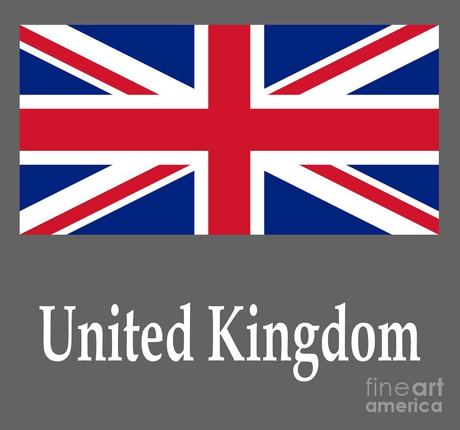 United Kingdom Flag And Name Digital Art By Frederick Holiday