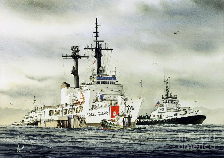 United States Painting - United States Coast Guard BOUTWELL by James Williamson