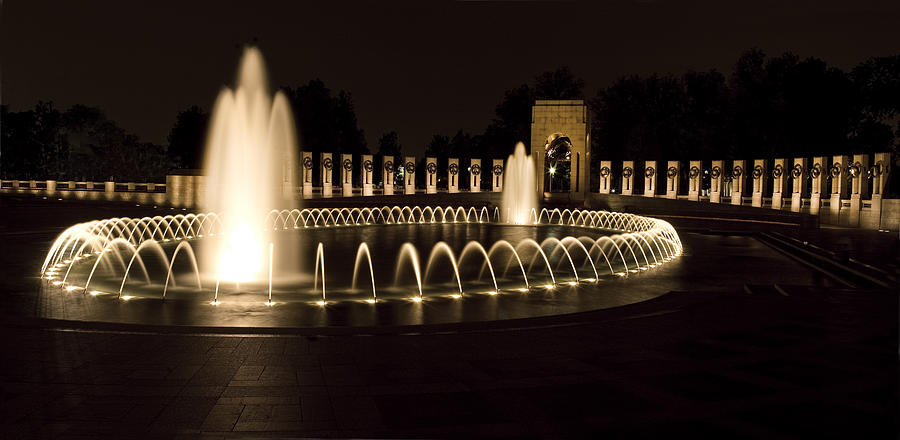 Memorial Photograph - United States National World War II Memorial In Washington Dc by Brendan Reals