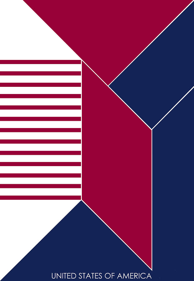 United States Digital Art - United States Of America IIi - Text by Asbjorn Lonvig