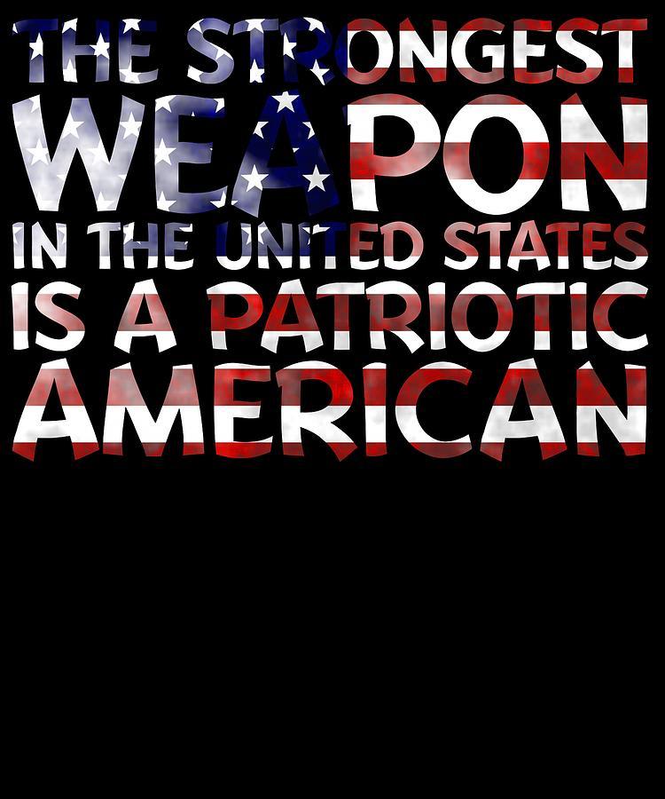 American Flag Digital Art - United States Patriotic American by Passion Loft