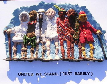 United We Stand Barely Mixed Media by Roger Swezey