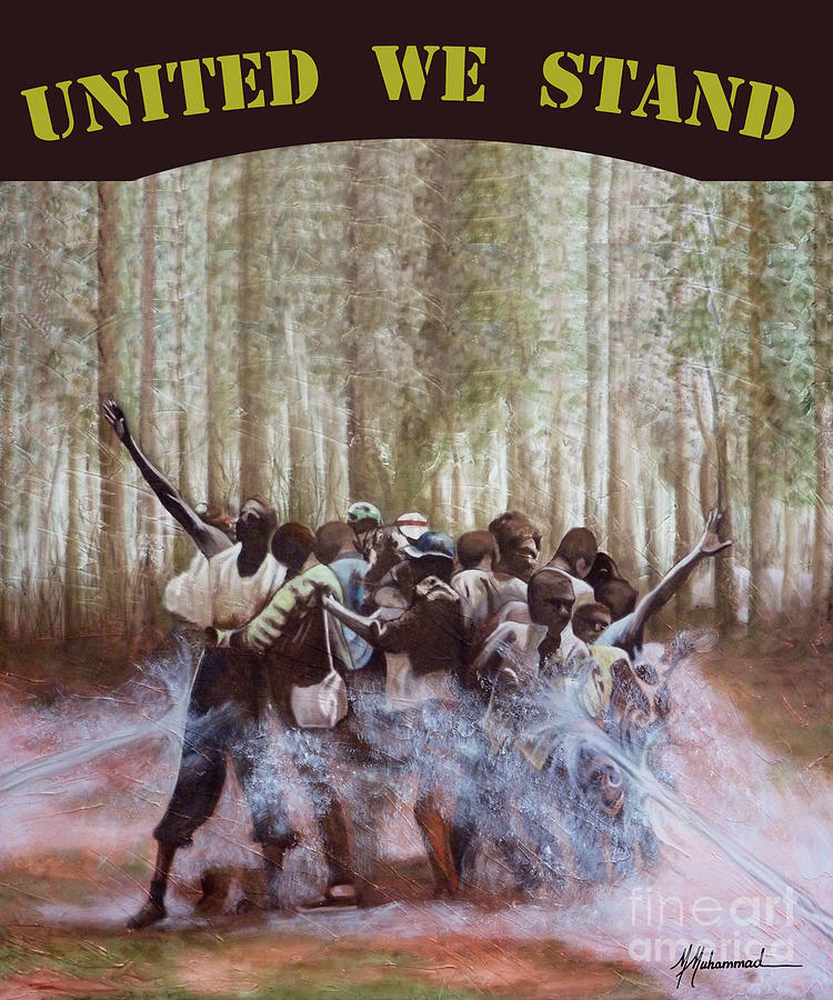 African American Painting - United We Stand by Marcella Muhammad