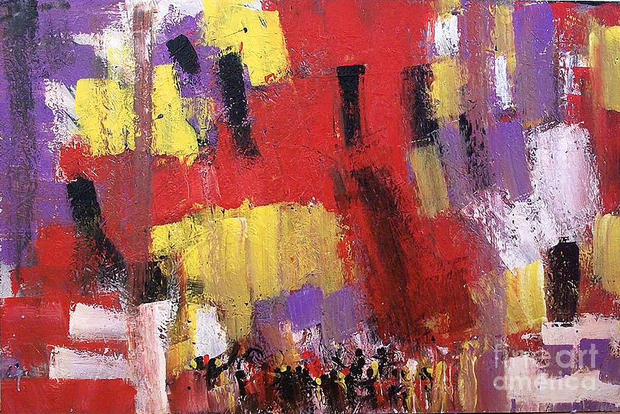 Abstract Painting - Unity by Esther Jones