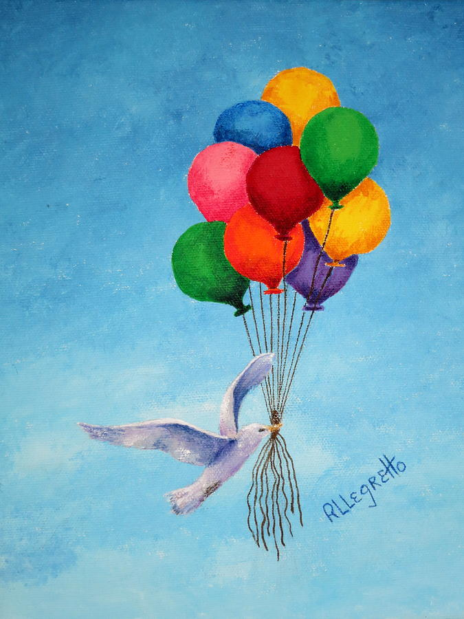 Balloons Painting - Unity by Pamela Allegretto