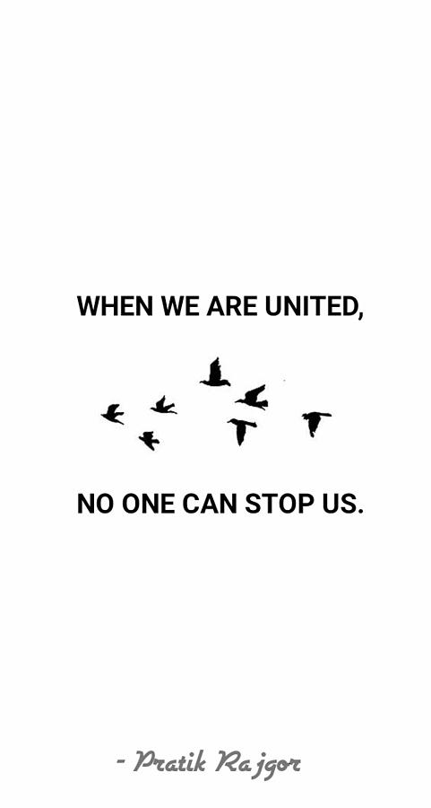 Quotes Photograph - Unity Quote by Pratik Rajgor