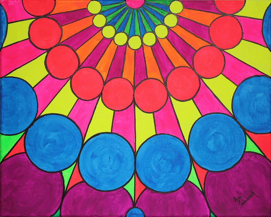 Pop Painting - Universal Flower 2 by Ann Sokolovich