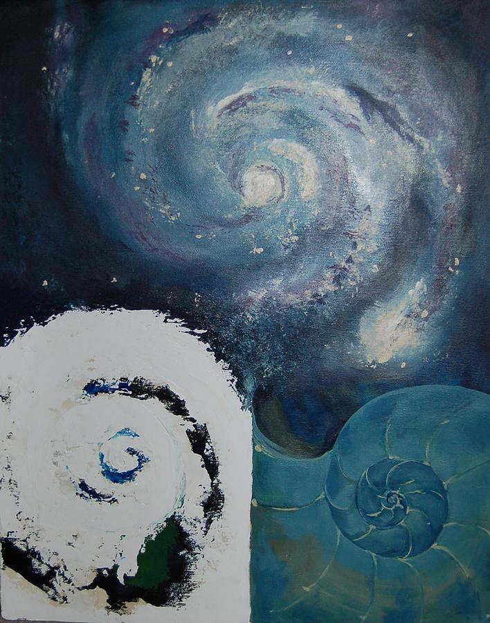 Abstract Painting - Universal Mathematics by DeLa Hayes Coward