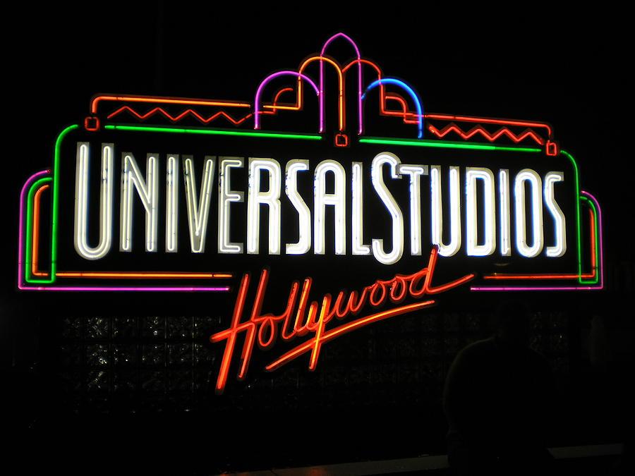 Sign Photograph - Universal Studios by Sleiman Moussa