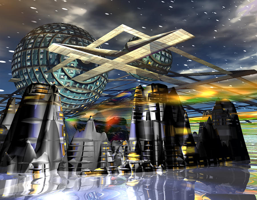 Galaxy Digital Art - Universal World by Mason BenYair
