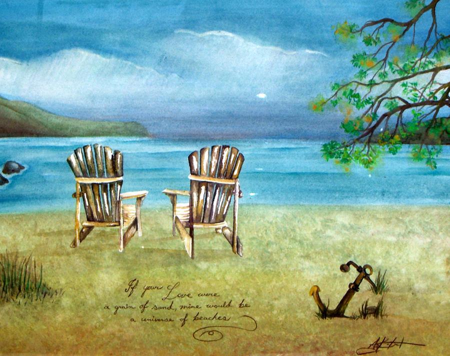 Beach Painting - Universe Of Beaches by Amanda Kabat