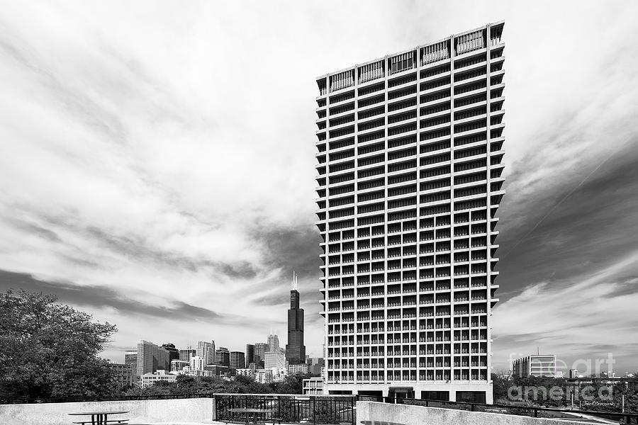 Chicago Photograph - University Of Illinois At Chicago University Hall  by University Icons