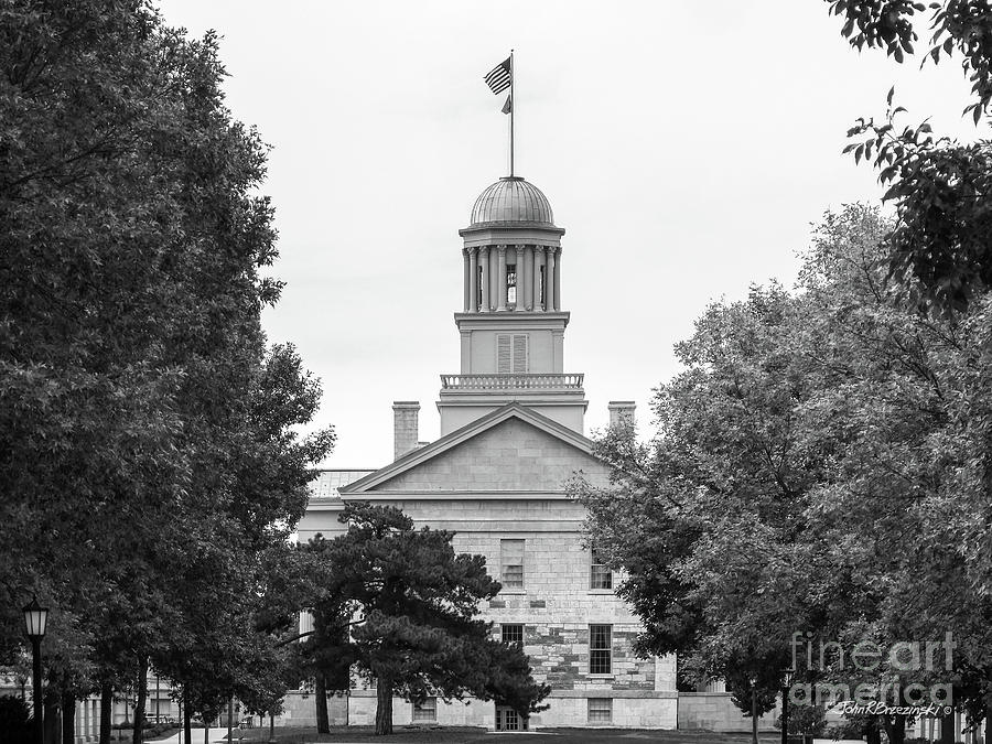 Aau Photograph - University Of Iowa Old Capital by University Icons