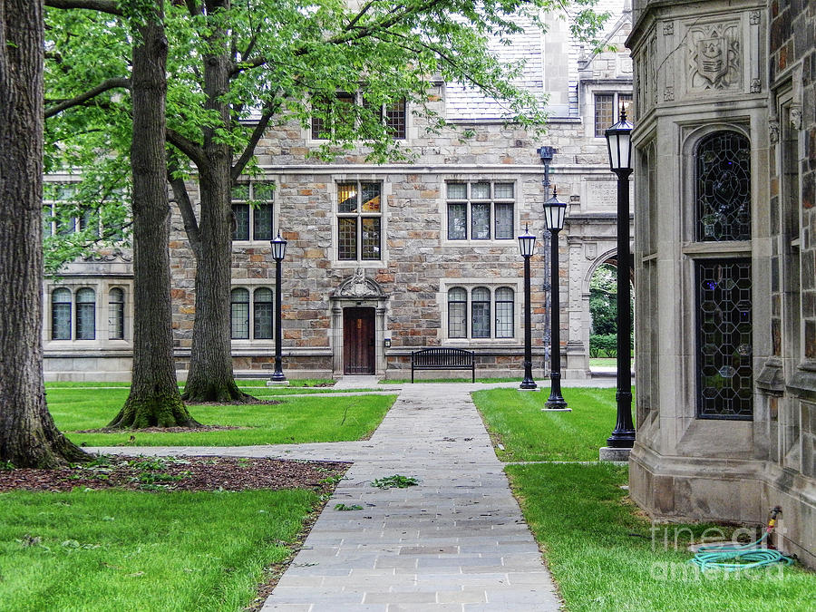 Michigan Photograph - University of Michigan Campus by Phil Perkins