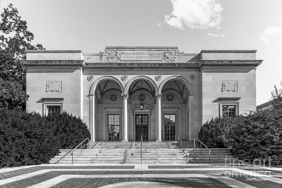 Ann Arbor Photograph - University Of Michigan Clements Library by University Icons