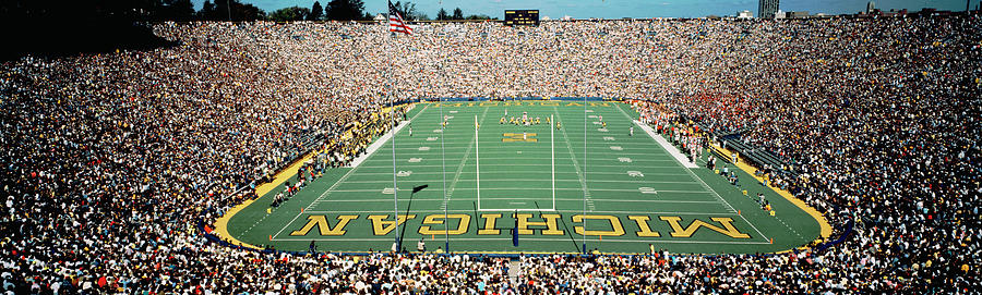 Color Image Photograph - University Of Michigan Stadium, Ann by Panoramic Images