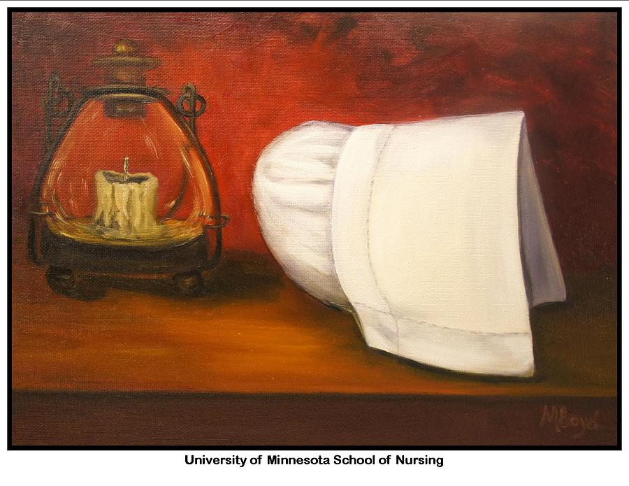 Nursing Painting - University Of Minnesota School Of Nursing by Marlyn Boyd