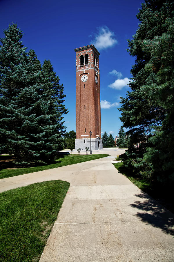 University Of Northern Iowa Photograph - University Of Northern Iowa Bell Tower by Mountain Dreams