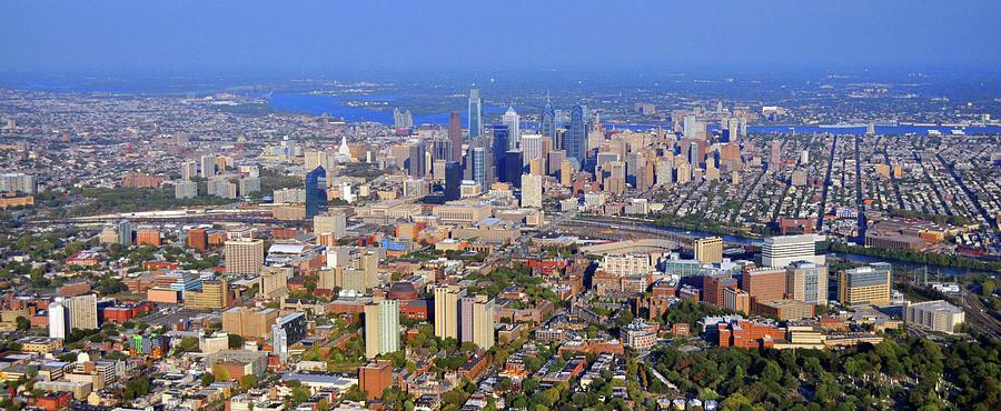 Philadelphia Skyline Photograph - University Of Pennsylvania And Philadelphia Skyline by Duncan Pearson