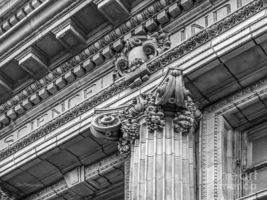 Aau Photograph - University Of Pennsylvania Column Detail by University Icons