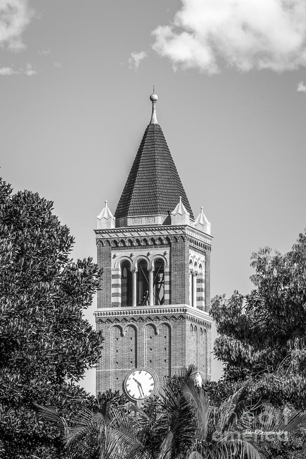 Aau Photograph - University Of Southern California Clock Tower by University Icons