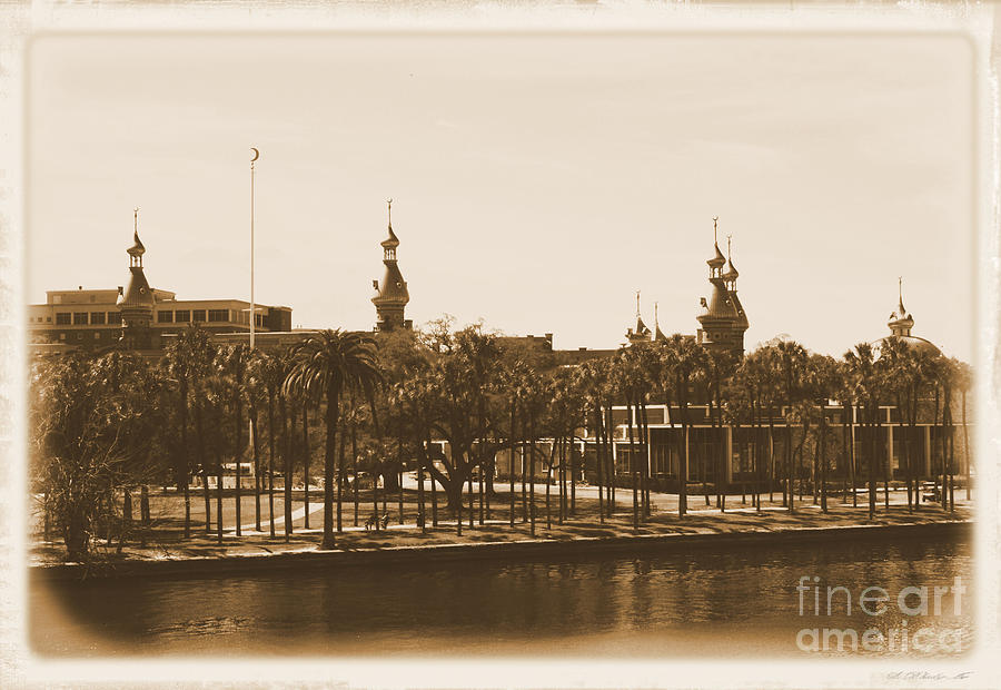 Tampa Photograph - University Of Tampa - Old Postcard Framing by Carol Groenen