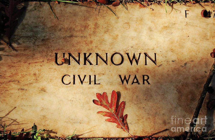 Memorial Photograph - Unknown Civil War by Kathleen K Parker